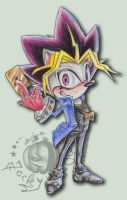 Sonic-Oh :Yugi the Hedgehog :D by Jacky-Hell-Oween