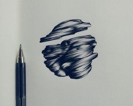 Ballpoint pen drawing #1 by RamNieto