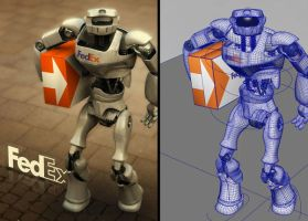 FedEx Robot by maceno