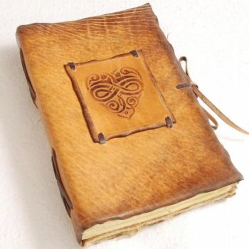 Fabulous Heart Leather Journal by gildbookbinders