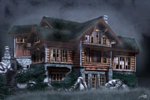 Haunted Cabin by LostLinkArt