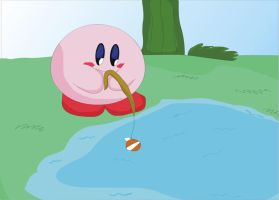kirby pescando by chacs