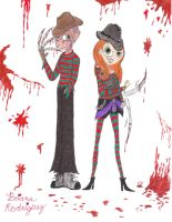 Freddy Krueger, Franny Kooper by Piddies0709