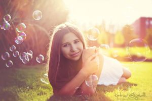 Gold and Bubbles by Katrin-Elizabeth