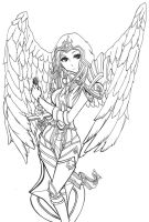 League of Legends Judgment Kayle skin by zelphie00