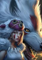 Princess mononoke2 by Zamberz