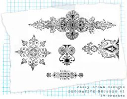 decorative brush set 05 by caseybdesigns
