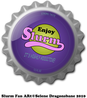 Slurm bottle cap by selene713