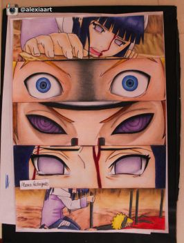Naruto Scene (Naruto and Hinata vs Pain) by AlexiaRodrigues