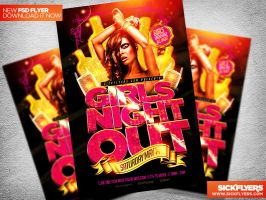 Girls Night Out Flyer Template PSD by Industrykidz