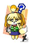 Animal Crossing: Isabelle by DarkMirrorEmo23