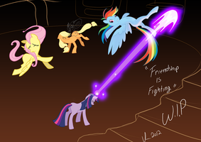 Friendship is Fighting! by Jesness