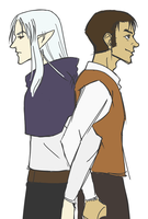 Vane Airship Stories Ghaleon and Dyne by Dragon-Weaver