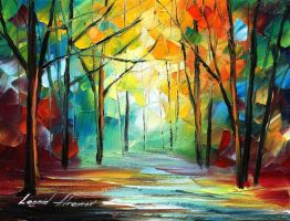 The path of sunbeams by Leonid Afremov by Leonidafremov