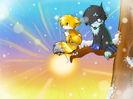 Collab: Up a Tree by Apple-Neko