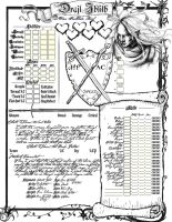 Drajl Character Sheet, Page 1 by InnocentBystander19