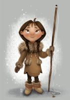 Young Inuit Girl (Name TBD) by meghanart