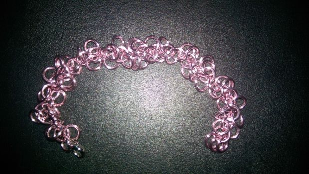 MLP Themed Chainmail Bracelet Fluffle Puff by TheGiantsnoll