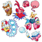 Bunch of Kirbys by Cheese-is-tasty