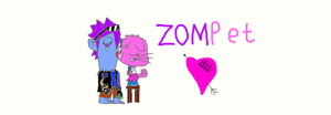 Zommer and Poppet kissing by poppetrocks278