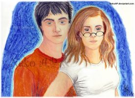 Harry + Hermione by NekoAP