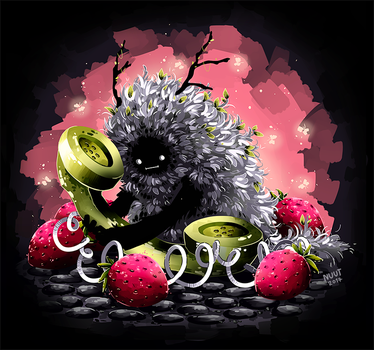 Who will comfort the strawberry monster? by nuuti