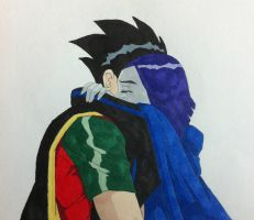 Don't let go - Raven/Robin by BesosDraws