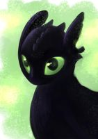 Toothless speedpaint by Alix-Aethusa