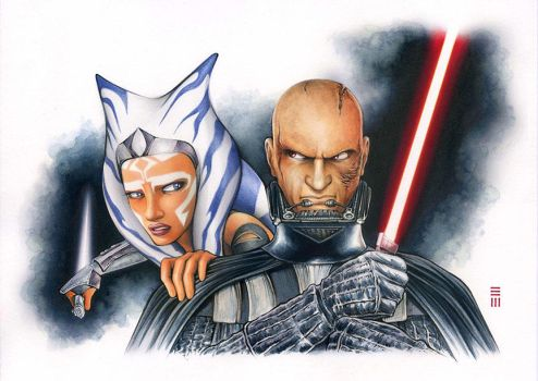 Anakin and Ahsoka - REBELS by Erik-Maell