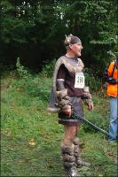 A Viking runner beats the zombies by squareprismish