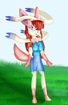 Avril the Sylveon by KendraTheShinyEevee