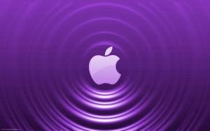 Purple Apple - Ripple Effect by Seans-Photography