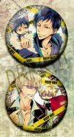 DRRR badges by kuso-taisa