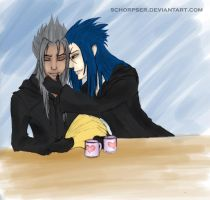 KH Xemnas and Saix by schorpser