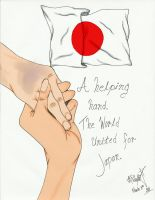 A helping hand for Japan. by Michelle-JP