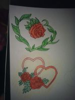 hearts and roses. by jadeface94