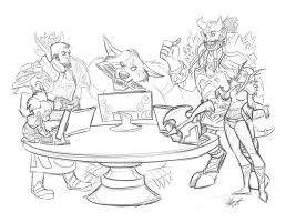 WoW family lan by inaliak