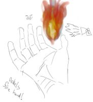 Flame hand by nokel