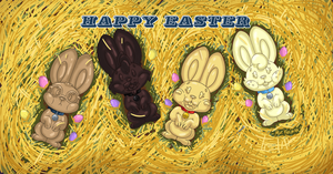 Happy Easter Bunnies by Machu