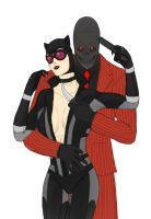 Selina Kyle and Roman Sionis by ContentialChampion