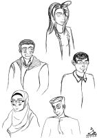 Caricature of my Students for the Mural by kalabadi-hallaj