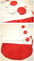 White Dot Clutch by moofestgirl