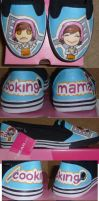 Cooking Mama Slip Ons by Paradox-Artistry