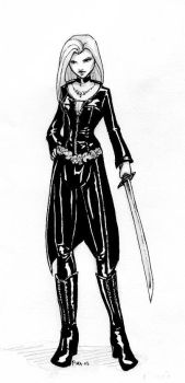 Celebrian in Black Leather by Pika-la-Cynique