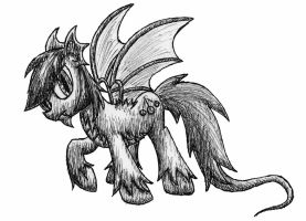 Dragon Pony pen sketch (Hypno von Draconis) by MetaDragonArt