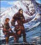 On the Doorstep: Thorin and Bilbo by Venlian