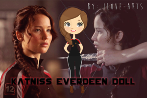 Katniss Doll - Nena Katniss Everdeen .png by iLove-Arts