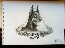 Doberman design by RytisX