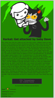 Karkat: Get Hit by a Baby -HS Journal Theme 1- by Firestixian