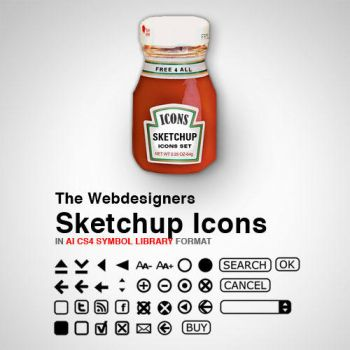 The Webdesigner Sketchup Icons by JorgenGedeon